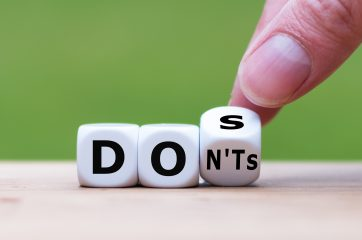 Dos and Don'ts for policy messages